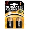 2 x Duracell C Plus Power Alkaline Batteries