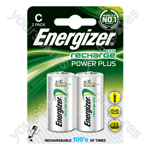 Energizer C 2500mah 2pk Power Plus 635674