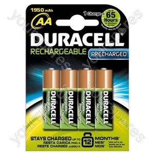 Duracell AA Stay Charged Pk4 203853 2000 Mah