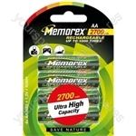 Memorex R6 2700mah Pk4 32120060427