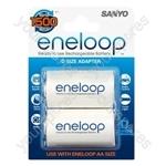 Sanyo Eneloop D Size Adaptors 2pk