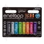 Sanyo Eneloop AA 8pk Glitter 166704219
