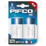 Pifco R20/d Zinc 2 Pack