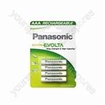 Panasonic AAA Evolta Rech Ba Ean#030072 800mah 4pk
