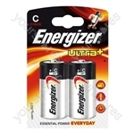 Energizer Ultra C Pk2 633004 Was 624679