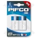 Pifco R14/c Zinc 2 Pack