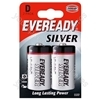 Eveready D Silver Pk2 621070