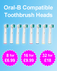 32 Oral-B Compatible Toothbrush Heads For £18.00